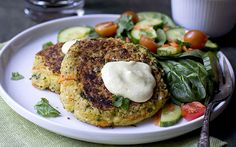 Chickpea Burger With Curried Yogurt Sauce [Vegan, Gluten-Free] | One - Easy to make- Green Planet