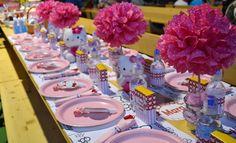 "Photo 1 of 22: Hello Kitty / Birthday ""Hello Kitty inspired 4th Birthday party "" | Catch My Party"