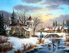 Winter at Stonebridge Manor http://heavenandearthdesigns.com