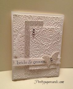 This is a must make wedding card.  Beautiful!