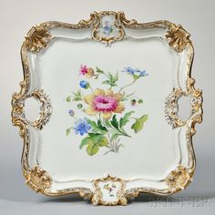 Meissen Porcelain Floral Tray | Sale Number 2875B, Lot Number 391 | Skinner Auctioneers