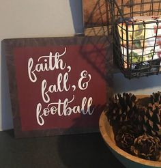 Football wood sign, fall signs, pumpkin spice latte, Fall wood signs, fall decor, thanksgiving decor, give thanks, rustic Fall decor