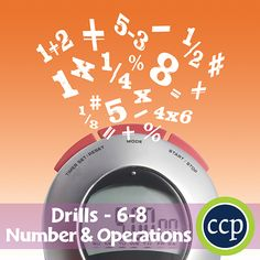For grades 6-8, our resource meets the number & operations concepts addressed by the NCTM standards and encourages the students to review the concepts in unique ways.   Each drill sheet contains warm-up and timed drill activities for the student to practice number & operations concepts. The pages of this resource contain a variety in terms of levels of difficulty and content so as to provide students with a variety of differentiated learning opportunities.