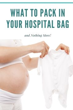 It's that exciting time during pregnancy to pack your hospital bag! Here's everything you really need to pack and why you don't need all the extras loading you down. Pregnancy Must Haves, Pregnancy Labor, Pcos Infertility, Pregnancy Information, Quotes About Motherhood, Beautiful Baby Girl, Hospital Bag, Newborn Care, What To Pack