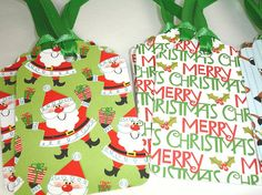 Handmade Holiday Gift Tags set of Twelve by txbutterfly74 on Etsy, $4.50
