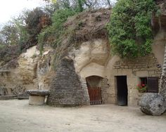 troglodyte (cave dweller) home as lived in today in the Loire River Valley of France