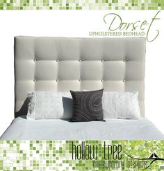 DORSET Upholstered Bedhead With Buttons for by HollowTreeStudio, $219.00