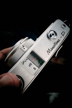 """Minolta """"Minoltina-P"""". Zone focussing compact from the Rangefinder Camera, Retro Camera, Vintage Cameras, Film Camera, Film Photography, Compact, Rock, Awesome, Pictures"""