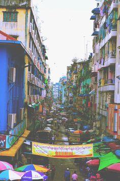 Downtown in Yangon, Myanmar by JANE CHO