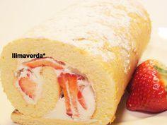 llimaverda: Brazo de gitano de fresas y nata