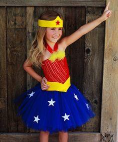 Loving this Tutu Mania Red & Blue Superheroine Tutu Dress Set - Infant, Toddler & Girls on #zulily! #zulilyfinds