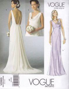 Vogue-Bridal-Original-Sewing-Pattern-Misses-Fitted-Bias-Dress-4-14-V2965