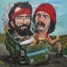'Up in Smoke' via KushCoast Cartoon Sketches, Cartoon Art, Zombie Cartoon, Cheech Und Chong, Satire, Marijuana Art, Marijuana Funny, Medical Marijuana, Weed Pictures