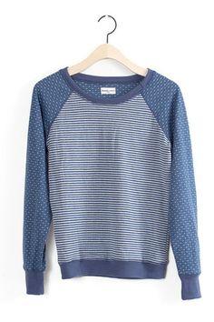 Seneca Blue Striped Top
