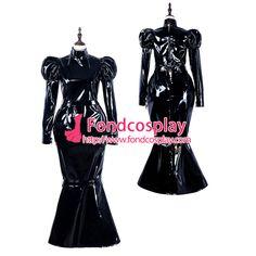 Sissy maid pvc dress lockable Uniform cosplay costume Tailor-made[G2299]
