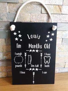 Personalised Baby Milestones Chalkboard