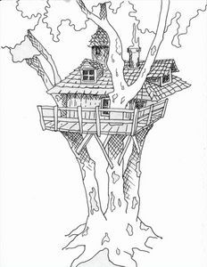 how to draw a treehouse step by step. Plain Draw How To Draw Tree House Thumbnail Throughout To A Treehouse Step By O