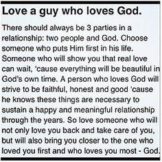Love a guy who loves God. Go for someone who is evenly yoked with you! And who will strive to get u closer to God rather than pull you away from Him! And most of all love God more than he will ever love you! Love The Lord, Love Can, Real Love, Man In Love, Online Psychic, Psychic Powers, Finding True Love, A Guy Who, God First