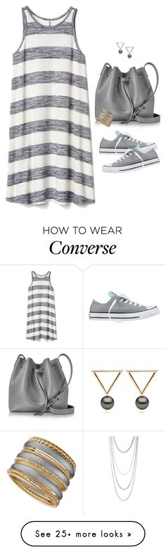 """Sneakers & Dress "" by houston555-396 on Polyvore featuring Gap, Converse, Lancaster, Scott Kay and R.J. Graziano"