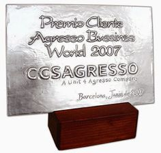 ArteyMetal: Placa homenaje agresso bussines world 2007