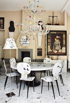 La casa de Fornasetti en Milán - AD España, © MANOLO YLLERA www.revistaad.es