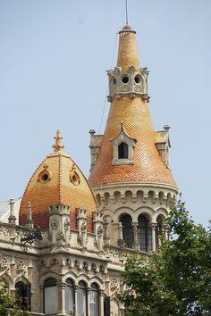 Casa Rocamora, Passeig de Gràcia, Barcelona, Catalonia by Bonaventura Bassegoda i Amigó (Barcelona, 1862 - 1940) fue un escritor y arquitecto