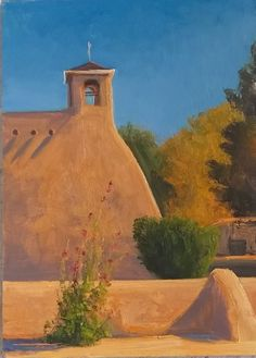 SOLD I Southwest Church I 7x5 I Dix Baines I Fine Artist Original Oil Paintings I Southwest Churches I Southwest Paintings I www.dixbaines.com