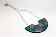 Collar+Abanico+01.+Col.+Esmaltado+de+Para+Gustos+los+Colores+por+DaWanda.com