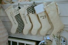 burlap stockings with leftover material