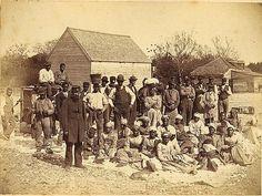 Slaves of the rebel General Thomas F. Drayton, Hilton Head, S.C circa 1862