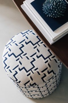 Stylish, small stool with a geometric pattern at Hotel The Maximilian, Salzburg Small Stool, Salzburg, Interiors, Stylish, Pattern, Patterns, Decoration Home, Decor, Model