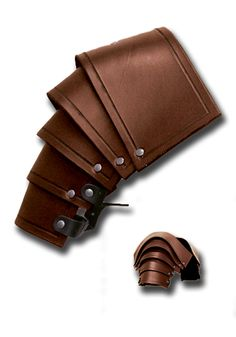 Larp shoulders - Warriors brown - Shoulder & Neck - Leather Armour - Armour