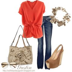 """orange"" by stacy-gustin on Polyvore"
