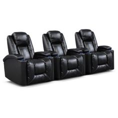 Polaris II 3 Pc. Power Reclining Home Theater Sectional