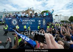 London, UK. 25th May 2015. #Chelsea FC victory parade after winning the 2015 English Premier League © amer ghazzal/Alamy Live News