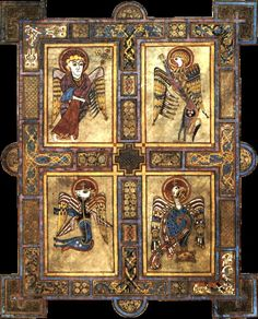 missfolly: The Book of Kells Tetramorph, ca.. 800