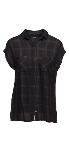 Rails Britt Rolled Short Sleeve Button Down in Obsidion / Manage Products / Catalog / Magento Admin