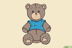 Een Teddybeer tekenen (met afbeeldingen) - wikiHow Caricature, Fallout Vault, Photos, Boys, Painting, Fictional Characters, Teddy Bear, Pictures, Painting Art
