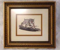 Gene Gray Prints For Sale   1969 Gene Gray Wildcat Print Framed UK University of Kentucky   eBay
