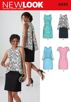 New Look Misses' Dress in Two Lengths 6430