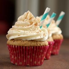 Cinnamon Dolce Latte Cupcakes #coffee #recipes