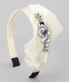 Love this Ivory Rhinestone Orchid Headband on #zulily! #zulilyfinds