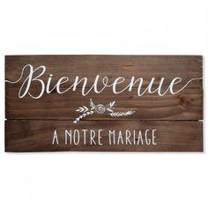 """Panneau """"bienvenue à notre mariage"""""""