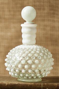 Vintage Fenton Glass Hobnail Perfume Bottle