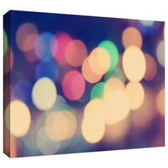 ArtWall John Black 'Blurred Lights' Gallery-Wrapped Canvas