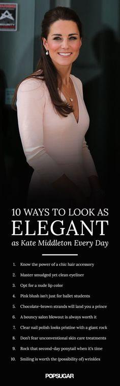 10 astuces pour être aussi élégantes que Kate Middleton chaque jour