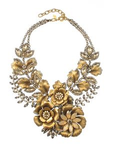 OCT 2013-Elizabeth Cole Jewelry - Flowering Vine Necklace