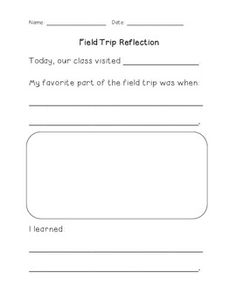 field trip reflection form tpt pinterest trips fields and field trips. Black Bedroom Furniture Sets. Home Design Ideas