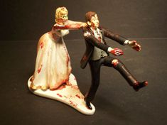 Zombies Running Bride and Groom Funny Wedding Cake by mikeg1968, $69.99