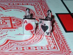 Hearts & Spades Playing Cards Charms by VintageBellissima on Etsy, $10.00